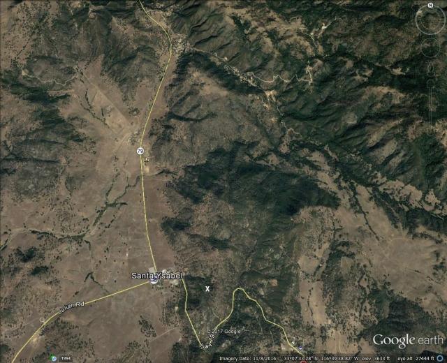 Santa Ysabel Trees Google with X